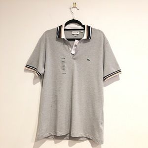Lacoste XL grey polo shirt NWT Male