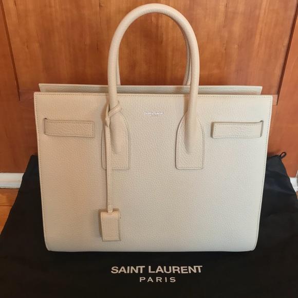 2a497458d39 Yves Saint Laurent Bags | Ysl Saint Laurent Small Sac De Jour Ivory ...