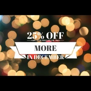 25% OFF on Bundles of 2 or More throughout Dec. 🎄