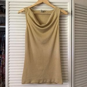 Michael Stars gold cowl neck tank