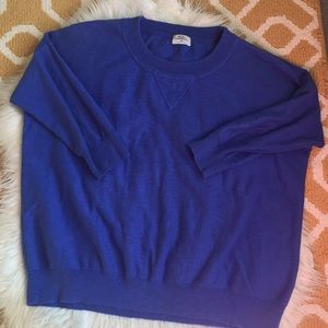 blue wallace sweater size M