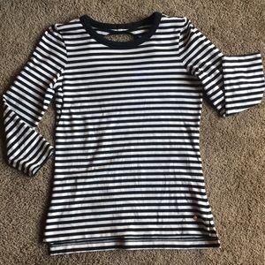 Kate Spade black and white stripe long sleeve