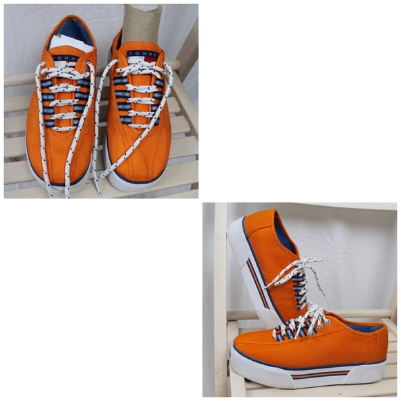 0d4e8051d57df6 Tommy Hilfiger Platform Sneakers Orange 6.5 M. M 5a284570fbf6f95415047ab3