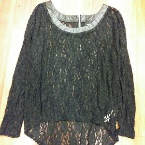 DKNY lace overlay blouse