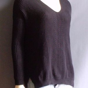 Vince Black Cotton Blend Slouchy Sweater XS