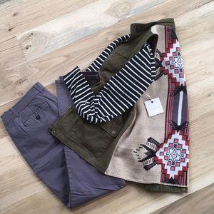 Aztec Sweater Back Cargo Vest