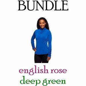 BUNDLE of 2 Susan Graver Liquid Knit Turtleneck A4