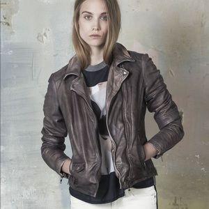 Muubaa Lyme Leather Rider Biker Jacket