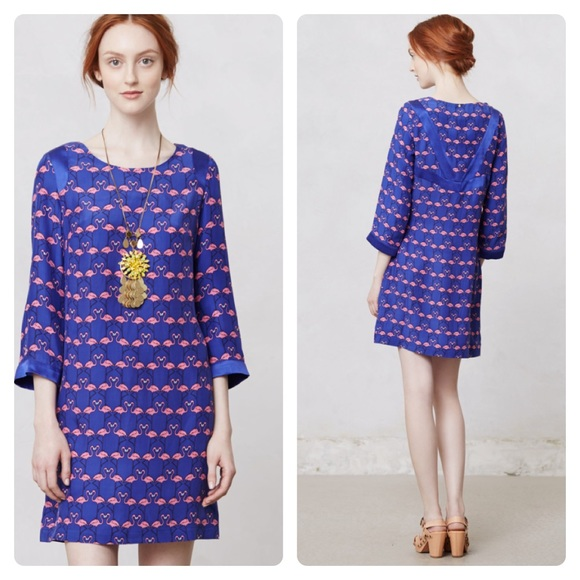7866cb99e31fd4 Anthropologie Dresses   Skirts - Antro Harlyn Flamingo Midi Dress