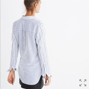 NWT Madewell  shirt in mixed stripes