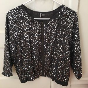 Sparkle & Fade sequin bomber jacket