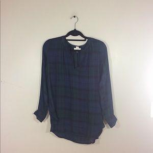 "Loft ""The Softened Shirt"" Plaid Top"