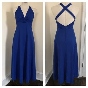 Vintage halter criss cross back dress 70's