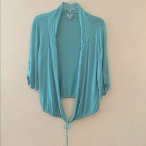 Worthington Turquoise Cardi Sz S