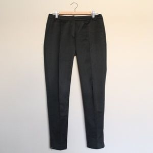 Dries Van Noten Black Ankle Zip Trousers
