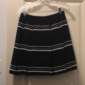 Navy and White Striped Limited Skirt - Petite XS