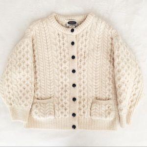 Sweaters - SOLD on IG - Chunky Wool Fisherman Cardigan