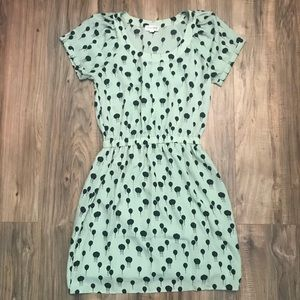 Maison Jules mint short sleeve dress with balloons