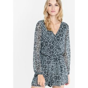 Express Black and White Paisley Romper