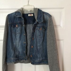Jackets & Blazers - Denim hooded jacket