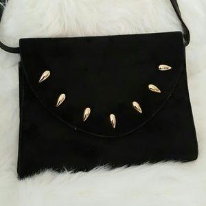 Handbags - Black suede & leather bag