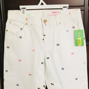 Lilly Pulitzer Mainline Jean Cropped NWT