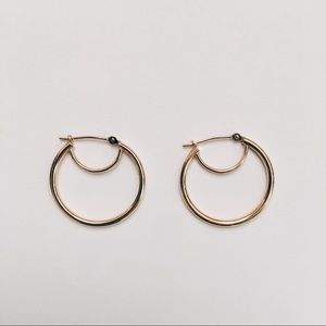 Jewelry - SOLD on IG - Gold Double Hoop Earrings