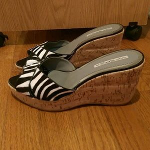 Via Spiga Zebra Wedges Slip On Size 9M