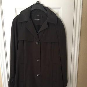 Calvin Klein Lined Hooded Rain Coat, NEW