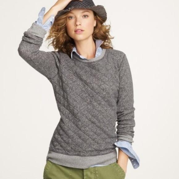 68% off J. Crew Tops - J. Crew Gray Quilted Sweatshirt from Sara's ... : quilted sweatshirt - Adamdwight.com