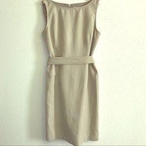 Beige Anne Klein sheath dress
