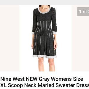 NINE WEST Simple Elegant Comfortable Sweater Dress