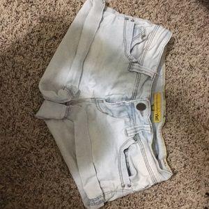Light blue jeans shorts