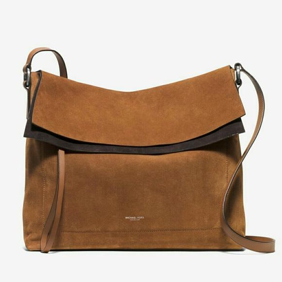 54e546b0cde9 Michael Kors Collection Bags | Michael Kors Sedona Large Flap Suede ...