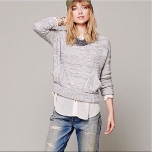 """Free People """"In My Pocket"""" Knit Sweater"""