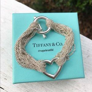 Tiffany & CO Multi strand Mesh silver bracelet