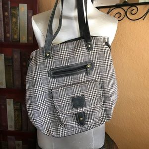 AMERICAN EAGLE tote in plaid houndstooth