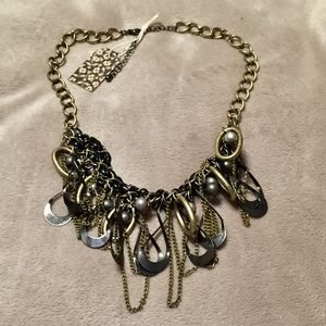 Jewelry - NWT Bronze Statement Necklace