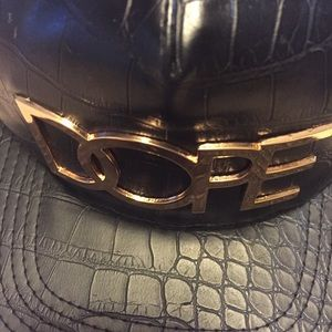 9def29fb32a dope couture Accessories - Dope 24K Gold snapback faux leather RARE Material