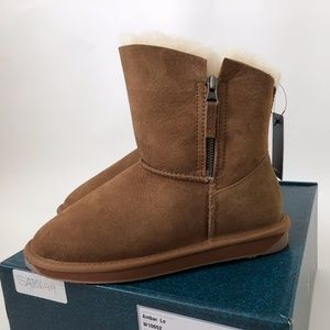 NWT New EMU Ambar Lo Chestnut BOOTS 6 Suede Wool