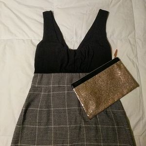 Black & tan dress