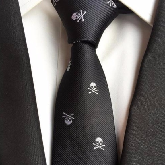 663bb7e37071 Accessories | Sale Skull Jacquard Necktie Casual Formal Tie | Poshmark