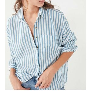 BDG Twill Button-Down Shirt - urban outfitters