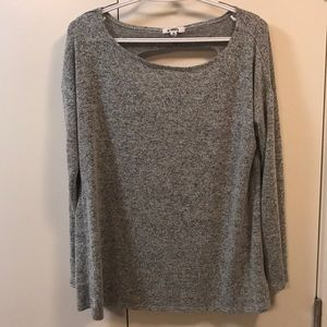 Super soft cut out back long sleeve top