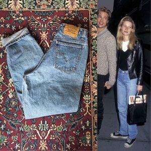 90s Orange Tabbed Levi's Denim Mom Jeans