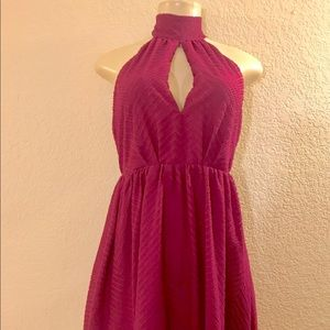 H&M's plum halter backless dress