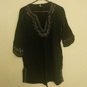 Black beach thin cover shirt