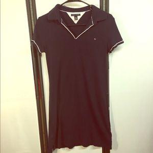 Tommy Hilfiger Navy Classic Polo Dress SZ Medium