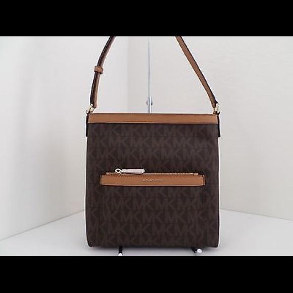 8e11cca09ff7 MICHAEL Michael Kors Bags | Michael Kors Morgan Md Brown Messenger ...