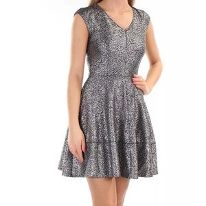 NWT Bar III Silver Sparkly Cocktail Dress
